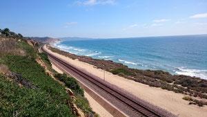 Del Marの線路沿い