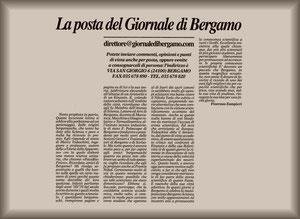 L'articolo. Un ringraziamento particolare al Sig. G. Marchi.