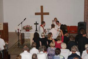 4.7.2010 - Taufe des Sohnes unseres Pfarrers durch den Bischof