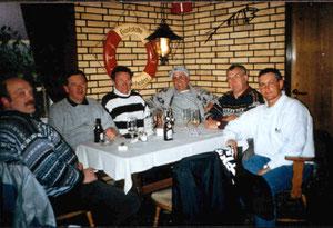 Nach dem Abendessen  in der Gaststätte Kieholm,