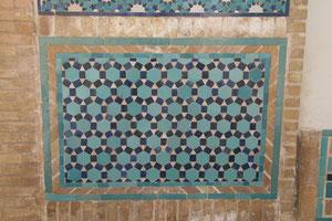 Een eenvoudig geometrisch patroon. (Varazan, Iran)