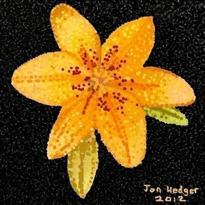 The Lily by Jon Hedger...painting using windows paint  ...... (c) copyright 2012