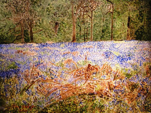 Bluebell Wood by Jon Hedger - watercolour painting ............(c) copyright 2011