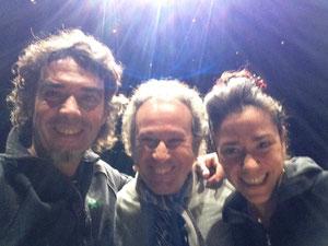 Con Marco Vargas y Juan José Amador