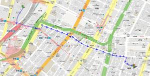 国際フォーラム → オンアンドオン(徒歩の場合)
