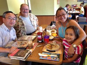2014年8月、マイアミでリードのご家族と。