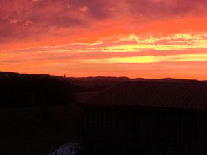 Sonnenaufgang über Altenthann