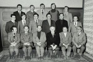 altes Gruppenfoto der Sektionsleiter der Sportunion