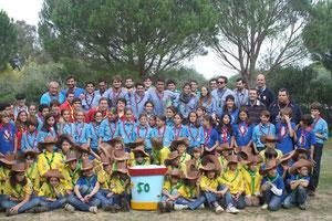 Los miembros del Grupo Scout Chaminade de Cádiz