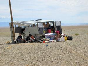 Rast in der Wüste Gobi