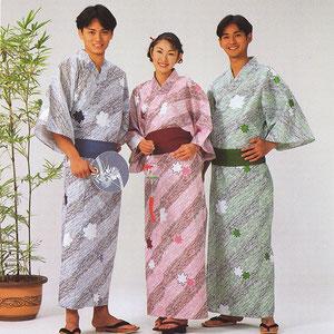 日本製 定番旅館浴衣 在庫品 折り鶴柄