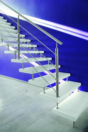 Ein harmonisches ZuEin harmonisches Zusammenspiel aus Design, Funktionalitäsammenspiel aus Design, funktionalität und Sicherheit: die neuesten Treppenmodelle lassen keine Wünsche offen. Foto: Kenngott