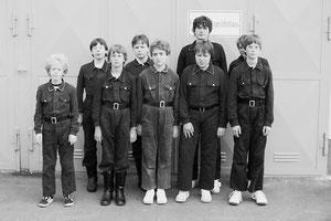 1984 in Geiß-Nidda nahm eine Gruppe der Jugendfeuerwehr Unter-Schmitten erstmals an einer Stadtmeisterschaft teil.