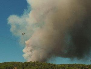 incendie à Correns en 2016