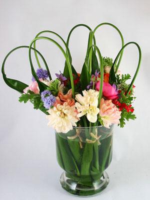 ハランを使った花束