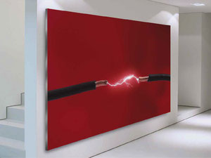 hinterleuchtetes Frametex Wandbild mit LED