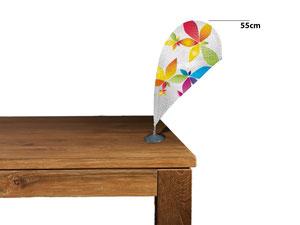 Tisch-Beachflag mit 55cm Höhe