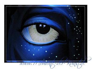 Acryl Avatar mit Leuchtfarbe - www.momente-der-kunst.de