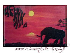 Acryl Afrika - www.momente-der-kunst.de