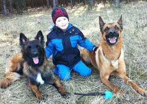 Luca mit Chamu & Lenny