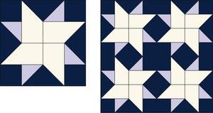 English Paper Piecing Heller Stern Pale Star