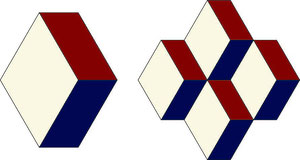 English Paper Piecing Raute Parallelogramm Diamond
