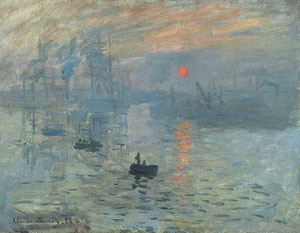 Claude Monet - Impression, soleil levant, 1872 / Quelle: Wikimedia Commons