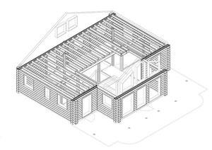 Hausplanung - Werkplanung - Wohnblockhaus - Einfamilienhaus - Holzhaus in massiver Blockbauweise