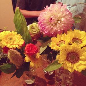 お花をたくさん頂きました。
