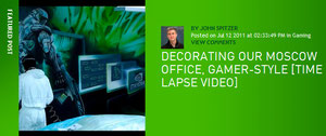 Decorating Our Moscow Office, Gamer-style [Time Lapse Video]