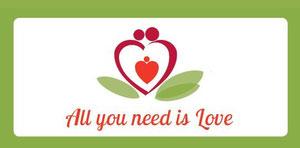 Valentin Karte Valentinkarte  All you need is loveValentinecard