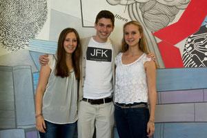 Pauline Thielen, Maximilian Stemper und Theresa Ferring