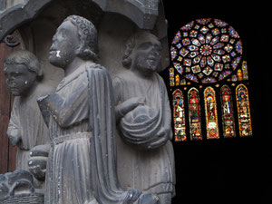 Chartres cathedral is wellknown for its stainglasses