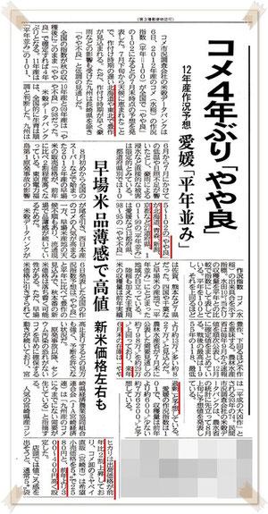 平成24年産作況予想 2012.08