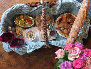 repas romantique dans le medieval