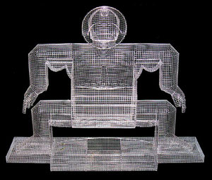 Sumo. 2004. Wire mesh, river stones. 130 x 150 x 80cm. Owned by the artist. © Charles Rocco
