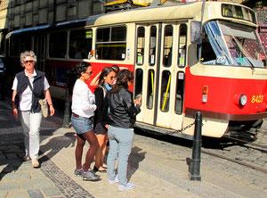 im Prager Zentrum unterwegs
