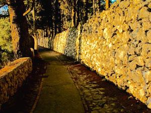 der Weg hinauf zur Villa Jovis ist nicht befahrbar
