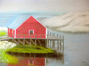 "Red Lobster House, Nova Scotia by Helen ""Eleni"" Antholis"
