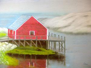 "Red Lobster House, Nova Scotia by Helen ""Eleni"" Antholis"