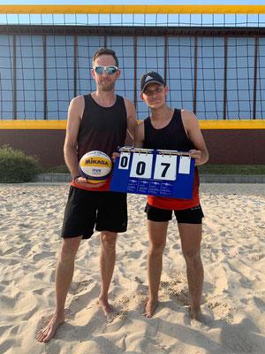 Beachaktion - 7. Platz: Timo Petzke und Marcel Mohrholz - GSBV Halle/S.