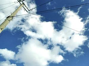冬の空、晴れた日に。