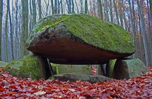 Großsteingrab an der Waldhalle nahe der Wissower Klinken
