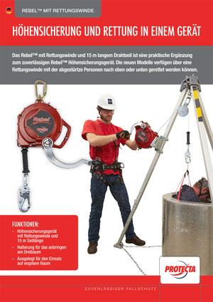Höhensicherung und Rettung in einem Gerät