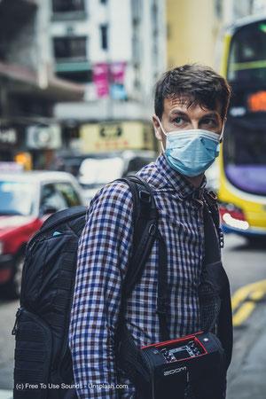 Atemschutzmasken wie diese sind leider nicht ausreichend.