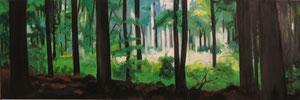 Wald Öl auf Leinwand 140 x 45 cm