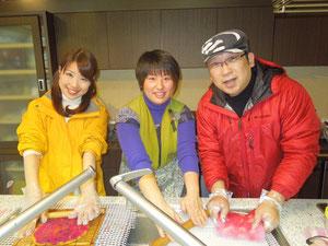 山田さんと桃ちゃんもフェルト初体験