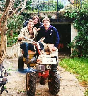 Nella foto da sinistra Federico Poletti - Vittoria Poletti - Francesco Castagna e Orazio