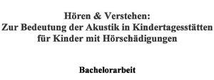 Deckblatt der Bachelorarbeit mit Titel