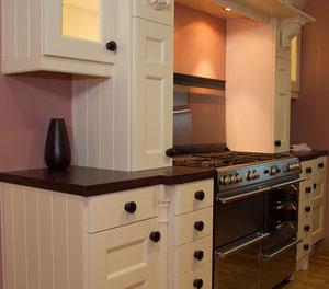 Massivholzküche, weiss lackiert